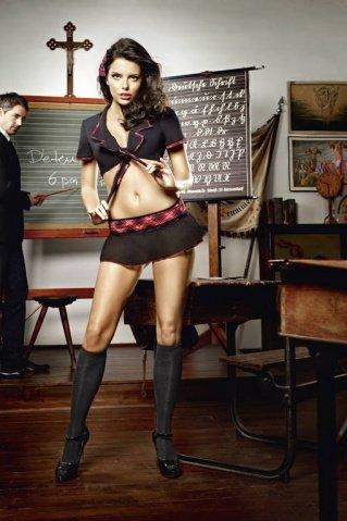 Игровой костюм ученица воскресной школы: топ и мини-юбка