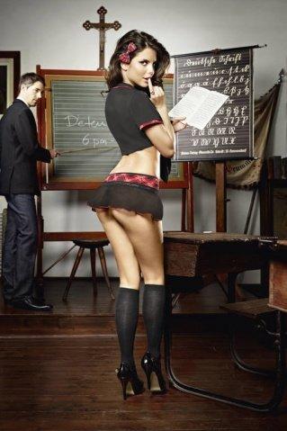 Игровой костюм ученица воскресной школы: топ и мини-юбка, фото 2