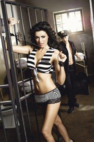 Игровой костюм пленница секса: топ, мини-юбка, манжеты с цепью, фото 3