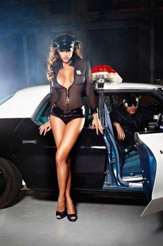 Игровой костюм полиция нравов: рубашка, трусики, пояс, значок и фуражка