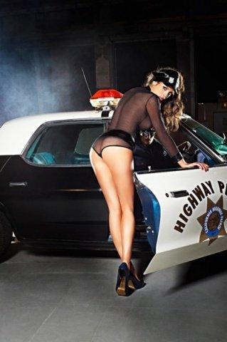 Игровой костюм полиция нравов: рубашка, трусики, пояс, значок и фуражка, фото 2