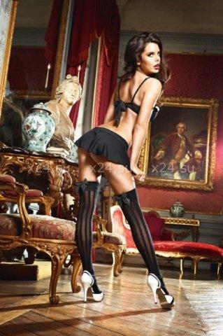 Чулки Laundry French Maid высокие черные ( ), фото 2