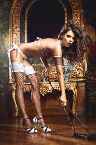 Чулки Five Star French Maid высокие в сетку черные ( )