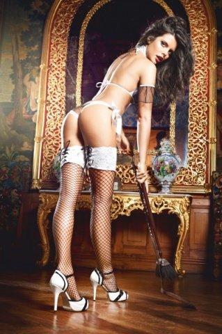 Чулки Five Star French Maid высокие в сетку черные ( ), фото 2