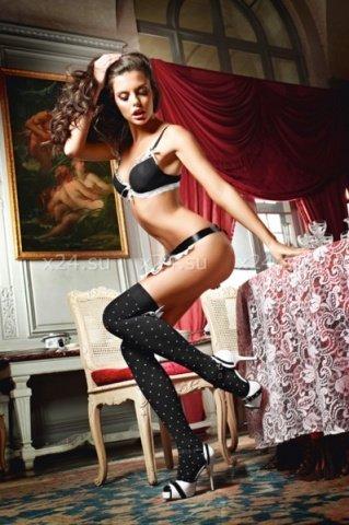 Чулки Playful French Maid высокие черные ( )