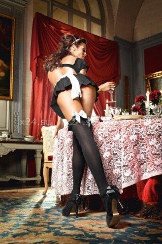 Чулки Mischievous French Maid высокие черные ( ), фото 2