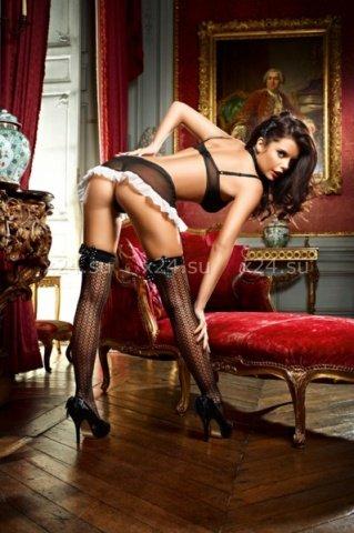 Чулки Privat French Maid высокие черные ( ), фото 2