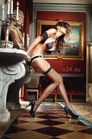 Чулки Careless French Maid высокие в крупную сетку черные ( )