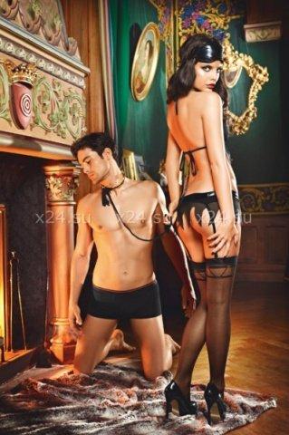 Чулки Obedient Slave высокие черные ( ), фото 2