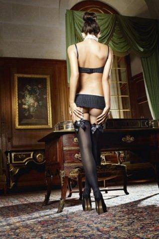 Игровой костюм секретарша секси: топ, мини-юбка, воротничок и галстук, фото 2