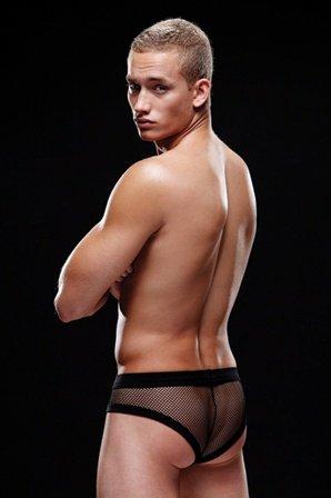 Брифы, трусы мужские, черные L/XL, фото 2