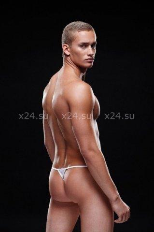 Стринги, трусы мужские, белая полоска, фото 2