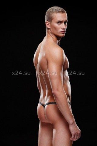 Стринги, трусы мужские, серые M/L, фото 2