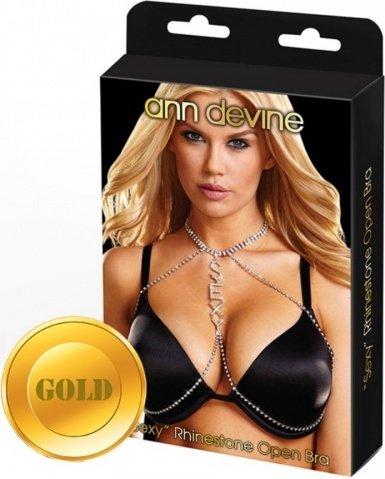 Украшение для груди sexy золотое