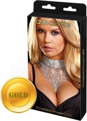 Шикарное ожерелье queen золотое