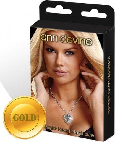 Цепочка с сердцем titanic heart necklace золотая
