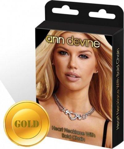 Колье с подвеской сердце heart necklace with bold chain золотое