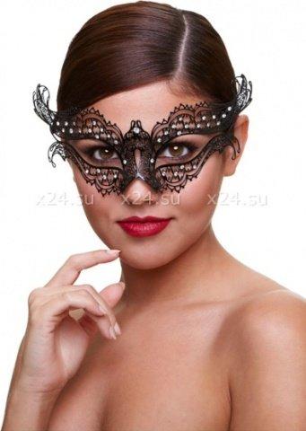 Черная маскарадная маска со стразами Masq Hidden