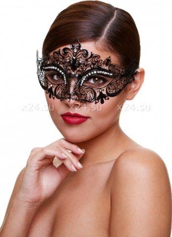 Черная маскарадная маска со стразами Masq Mysterious