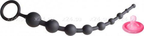 Анальные бусы из ультрабархатистого силикона 9 шариков