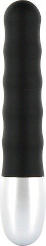 Стильный минивибратор Discretion Vibe Ribbed, цвет Черный