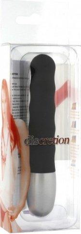 Стильный минивибратор Discretion Vibe Ribbed, цвет Черный, фото 2