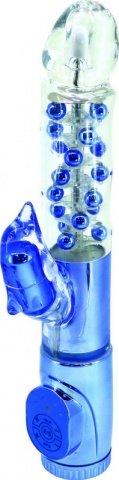 Вибратор с клиторальным стимулятором в виде дельфина, 7 режимов вибрации, фиолетовый