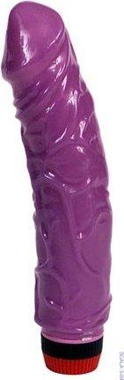 Вибратор, реалистик, фиолетовый, 45 х190 мм 18 см, фото 3