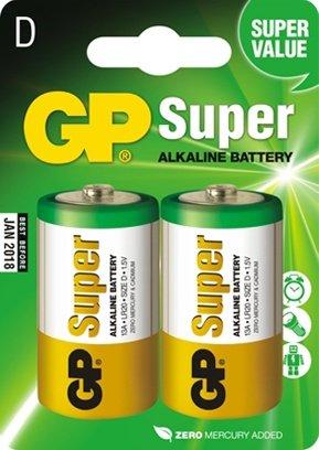 Батарейка Super LR20 (алкалин) в блистере по 2 шт
