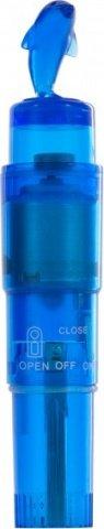 Мини-вибратор Дельфин, голубой, П-112, фото 3
