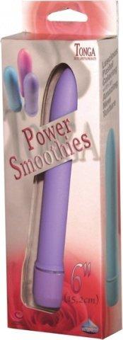Фалоимитатор с вибрацией из силикона - power smooties vibrator 6 purple 15 см, фото 2