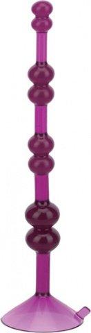 Втулка анальная на присоске фиолетовая 17,8 см, фото 4