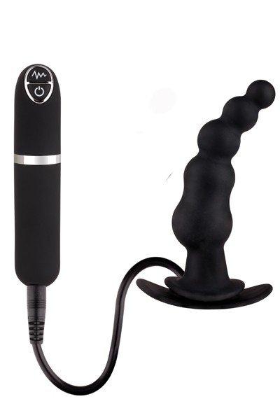 Вибровтулка черная 8,9 см Dash Butt Plug With Mini Controller I