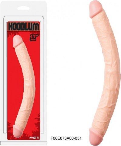 Фаллоимитатор двойной Hoodlum 43 см. телесный, фото 4