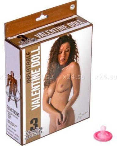 Куколка темнокожая с большой грудью Inflatable Valentine Doll (3 отверстия)