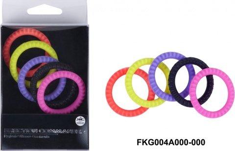 Эрекционные кольца (набор 5 шт.) erection comander