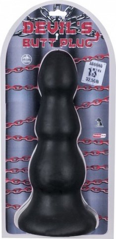 Очень большая пробка - devil's butt plug 13 black, фото 3