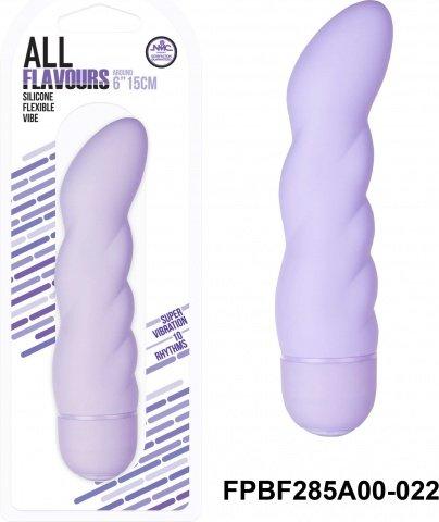 Вибратор 15,2 см, 10 режимов вибрации, силикон, фиолетовый