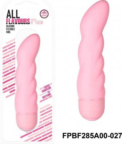 Вибратор 15,2 см, 10 режимов вибрации, силикон, розовый