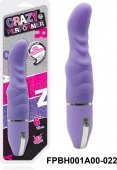 Вибратор 15,2 см, 10 режимов вибрации, силикон, фиолетовый - Секс шоп Мир Оргазма