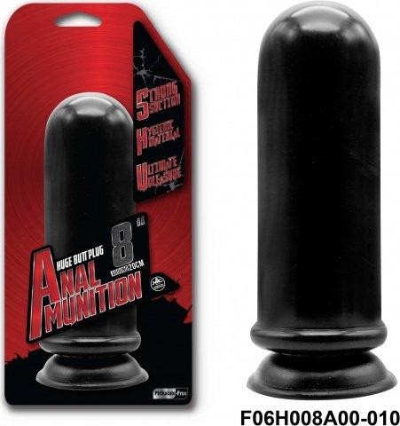 Фаллоимитатор 20,3 см, черный