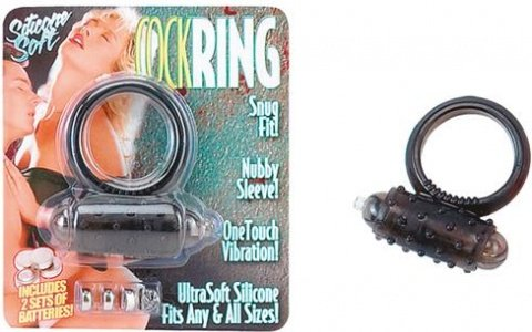 Кольцо с вибрацией mini vibrating cockring black 2k771smk-bcdsc, фото 3