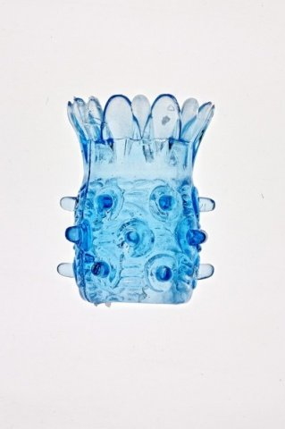 Насадка на фаллос с шипами в виде ананаса (цвет-голубой)