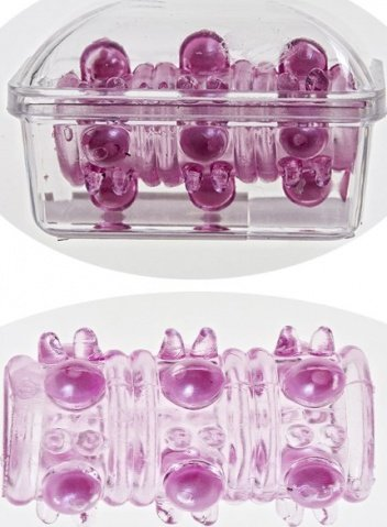 Насадка на фалос с шипами и бусинами(розовый)