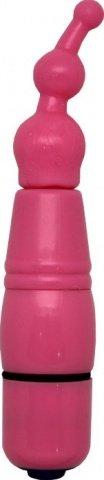 Розовый) Минивибратор со съемными насадками, фото 5