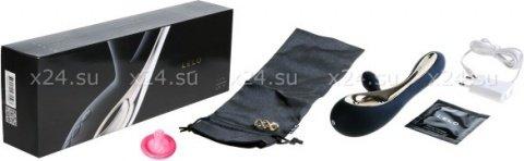 Soraya Black Вибромассажер с клиторальным стимулятором (черный) 22 см, фото 3