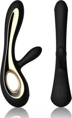 Soraya Black Вибромассажер с клиторальным стимулятором (черный) 22 см, фото 4