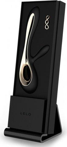 Soraya Black Вибромассажер с клиторальным стимулятором (черный) 22 см, фото 6