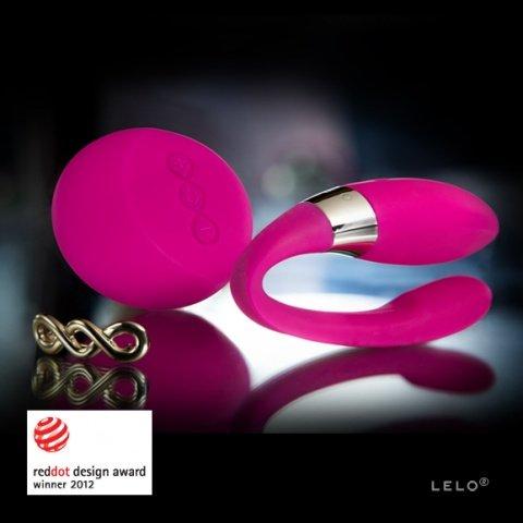 Tiani 2 Design Edition Cerise вибромассажер для пар (рубиновый), фото 4