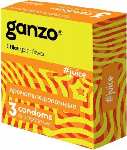 Презервативы ganzo juice цветные и ароматизированые -1 блок (24 уп), фото 3